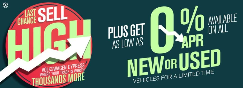 Sell your car to Volkswagen Cypress - upgrade and get as low as 0% on new and used