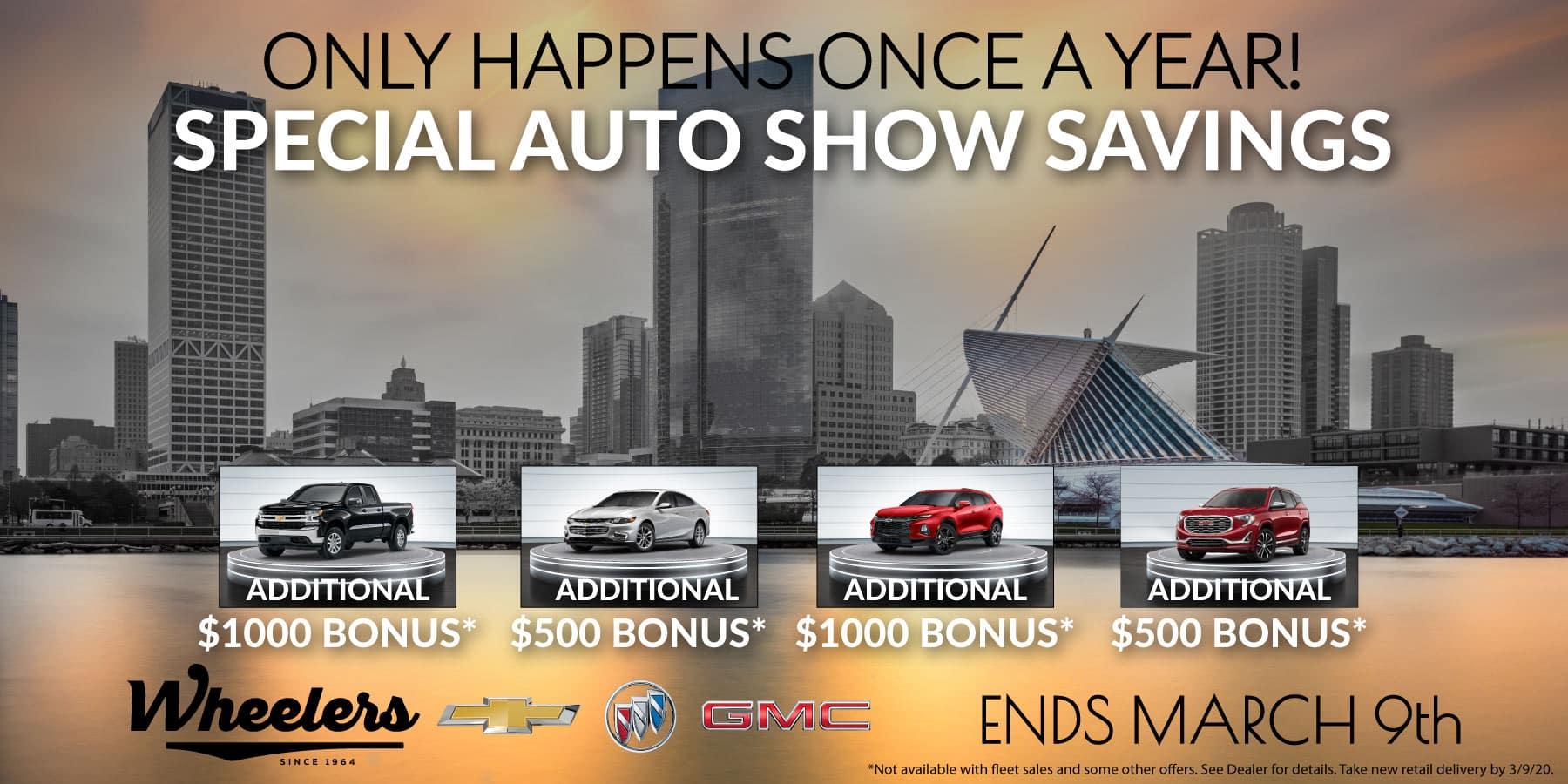2020 Auto Show Special Savings Offer