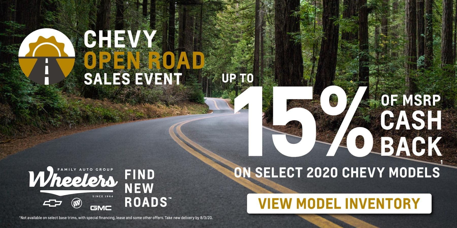 July Open Roads Sales Event