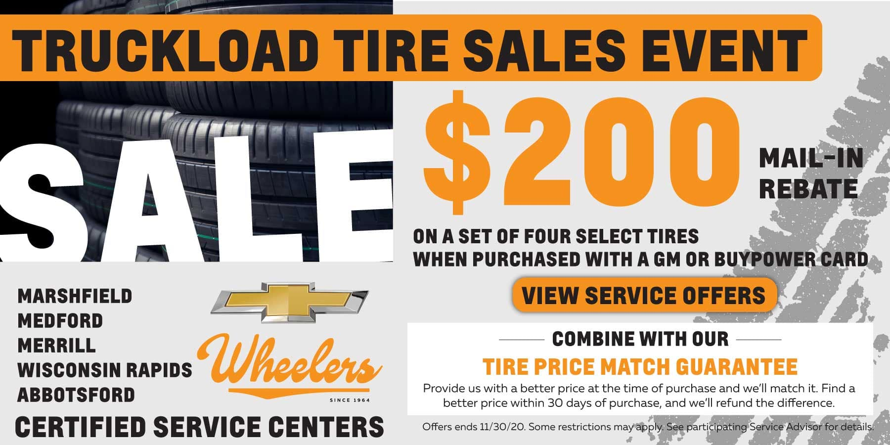 Truckload Tire Sales Event