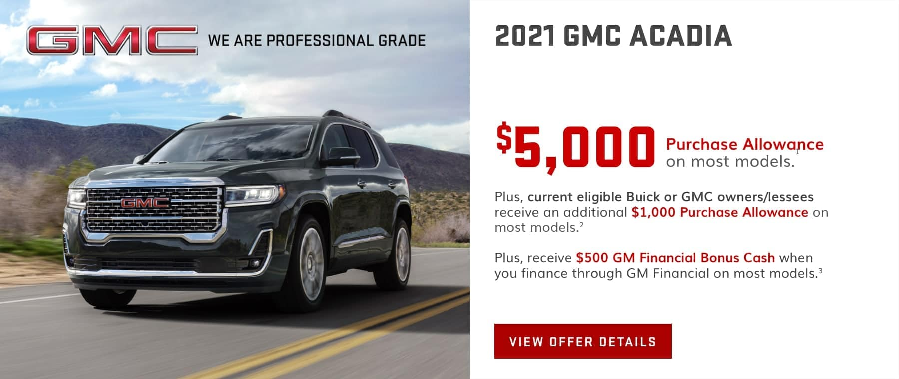 GMC Acadia May Offer