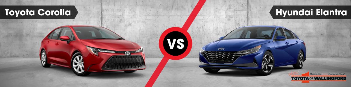 Toyota Corolla vs Hyundai Elantra Wallingford CT